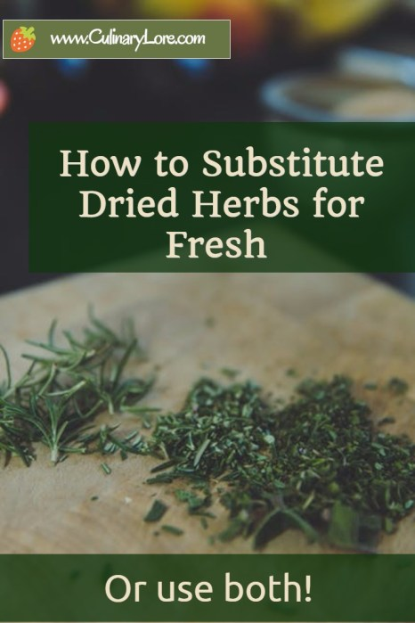 substituting dried herbs for fresh