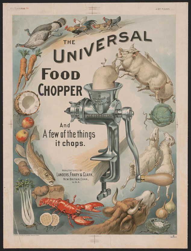 Vintage food chopper advertisement