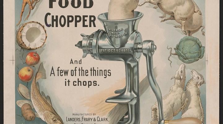 Vintage food chopper advertisement