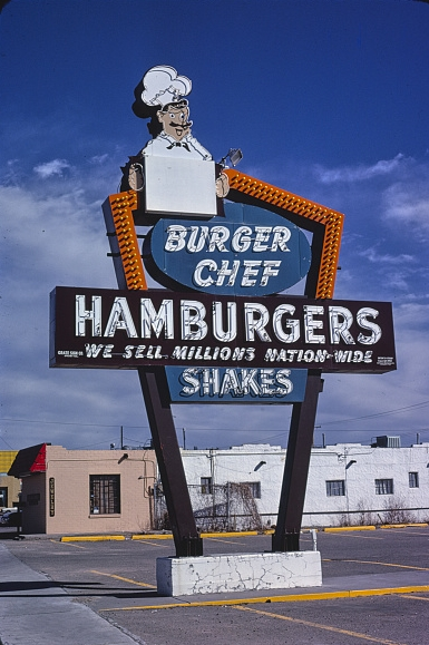 Burger Chef sign, 1979, Albuquerque, New Mexico