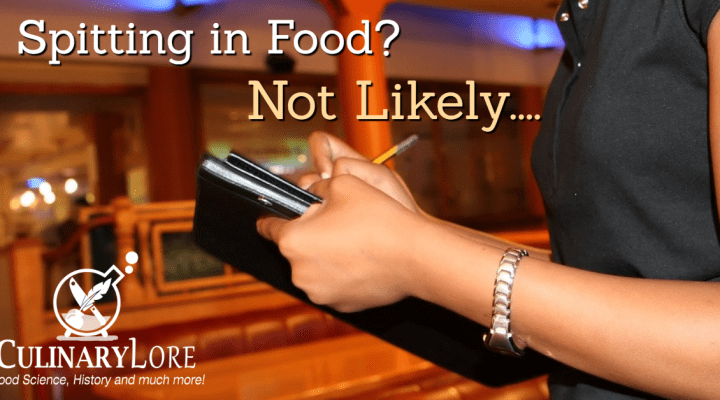 Is spitting in restaurant food common?