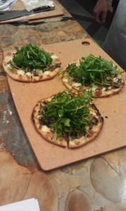 Arugula & Bronzed Mushroom Flatbread