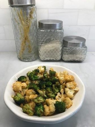 Roasted Old Bay veggies