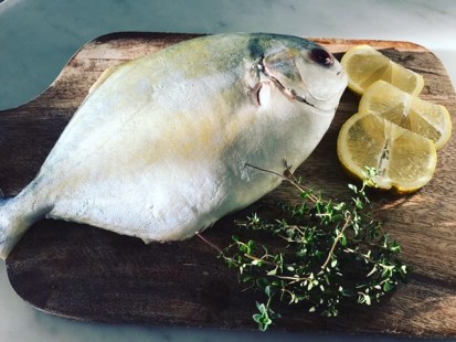 Pomano fish Mise En Place