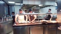 Küche im Restaurant Gordon Ramsay in London