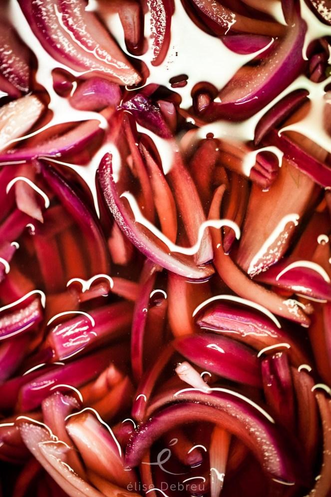 pickles oignon rouge, cuisine saine, gastronomie