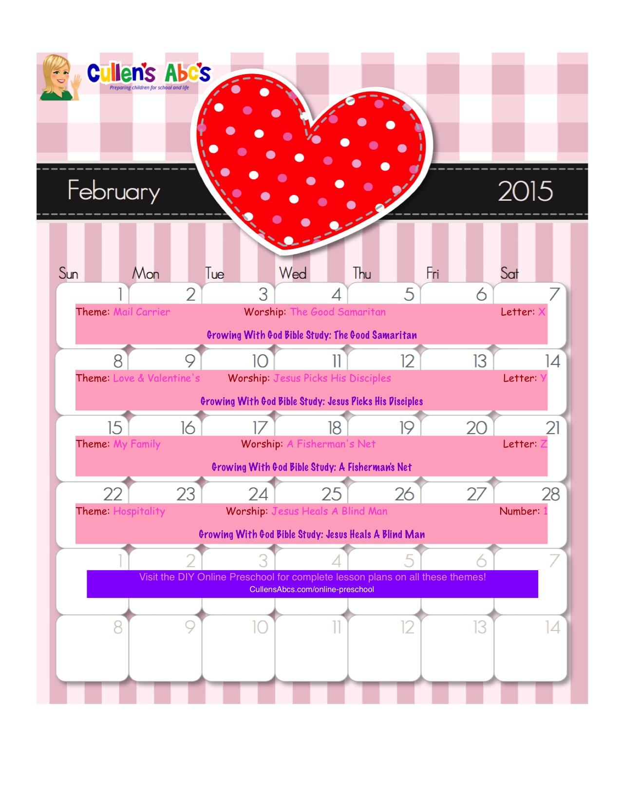 Preschool Calendars