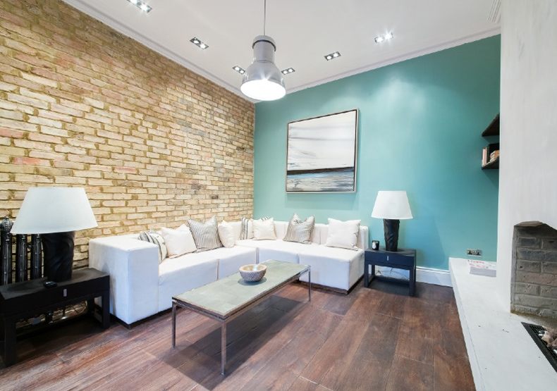 A contemporary media room home staged by Cullum Design   London UK