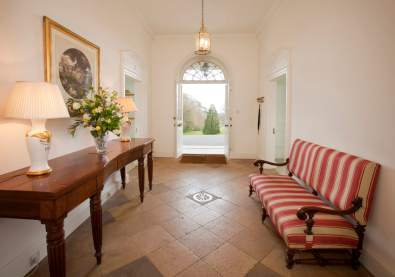 A classic country house entrance hallway home staged by Cullum Design | London UK