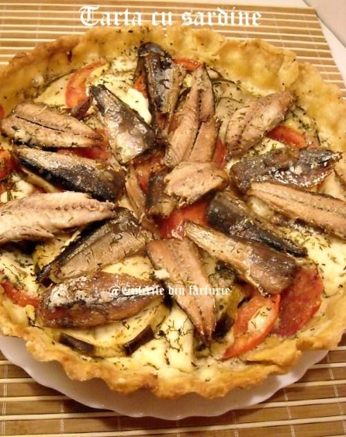 Tarta cu sardine, rosii si vinete 7