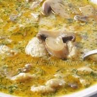 Supa de ciuperci cu galuste