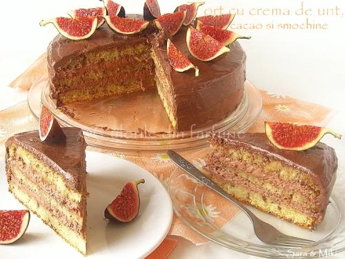 Tort-cu-crema-de-unt, cacao-si-smochine 4-1