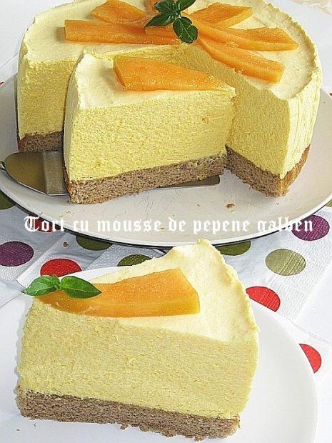 Tort-cu-mousse-de-pepene-galben-3