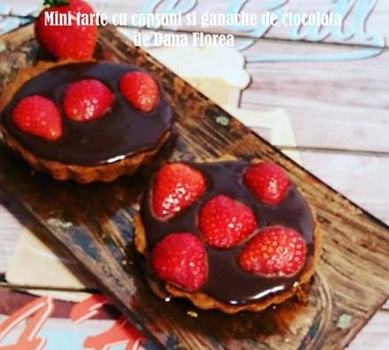 Mini tarte cu capsuni si ganache de ciocolata de Dana Florea