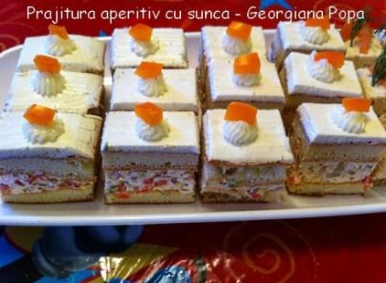 Prajitura aperitiv cu sunca - Georgiana Popa