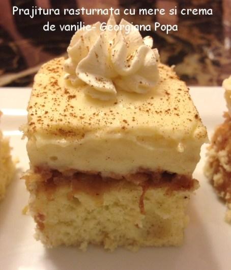 Prajitura rasturnata cu mere si crema de vanilie- Georgiana Popa