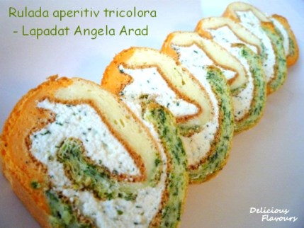 Rulada tricolora cu crema de branza - Lapadat Angela Arad