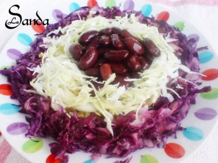 Salata de fasole, varza rosie si alba de Sanmda Suciu Ex Surtea
