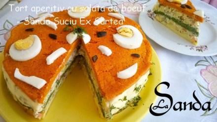 Tort aperitiv cu salata de boeuf - Sanda Suciu Ex Surtea