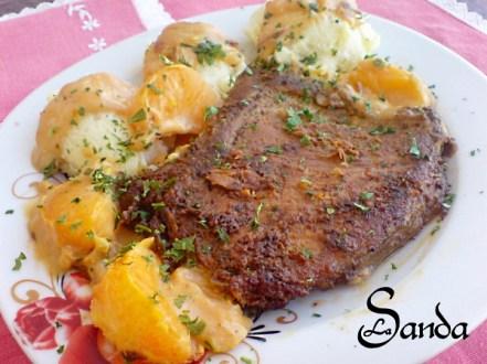 - Cotlet de porc in sos de mandarine de Sanda Suciu Ex Surtea