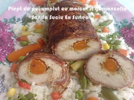 Piept de pui umplut cu morcov si gorgonzolla - sanda Suciu Ex Surtea