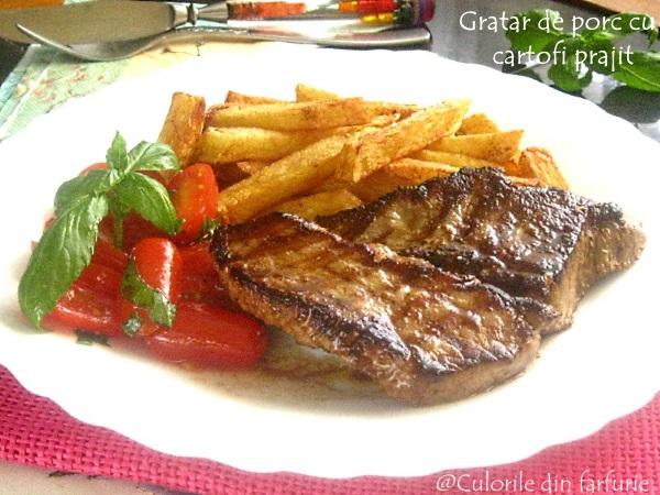 Gratare-de-porc-cu-cartofi-prajiti-2-1