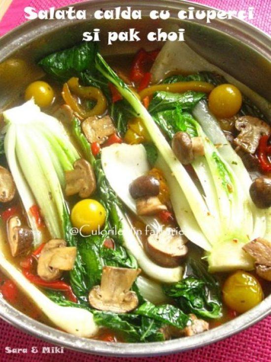 salata-calda-cu-ciuperci-si-pak-choi-3