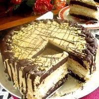 Tort cu cacao, cocos si crema de cappuccino