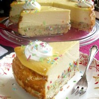 Cheesecake cu vanilie si funfetti