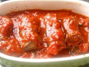 7. Piept de manzat in sos de rosii cu busuioc