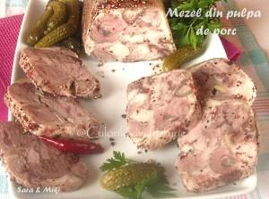 6. Mezelul din ciolan de porc feliat.
