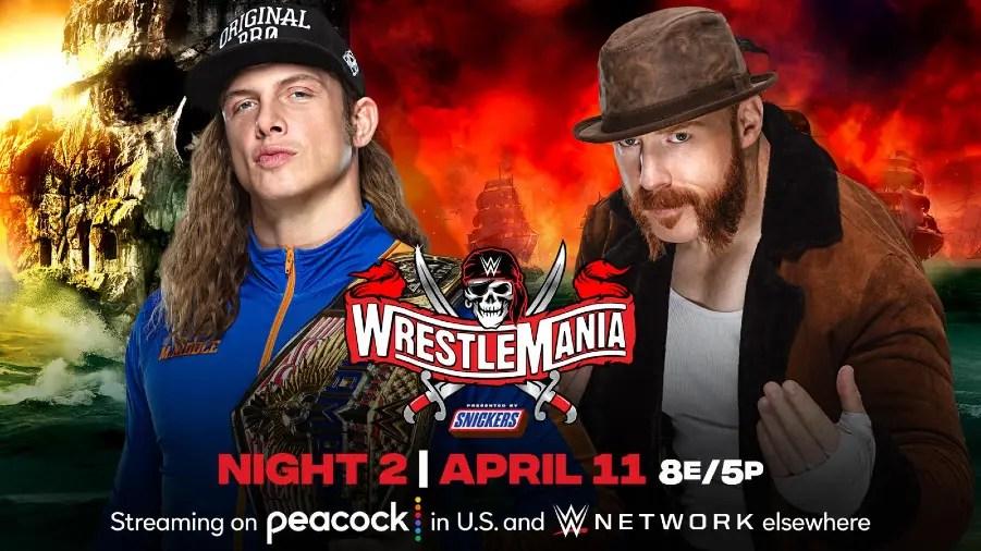 Riddle Vs. Sheamus Added To WWE WrestleMania 37   Cultaholic