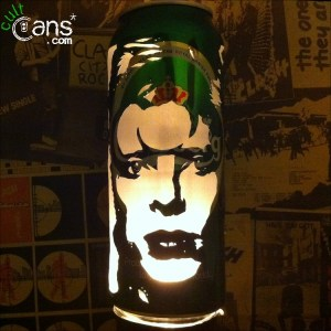 David Bowie 'Ziggy Stardust' Beer Can Lantern