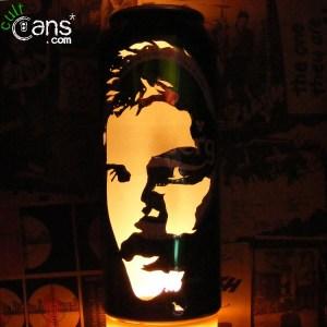 Freddie Mercury Beer Can Lantern