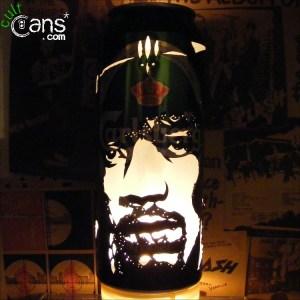 Jimi Hendrix Beer Can Lantern