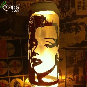 Marilyn Monroe Beer Can Lantern
