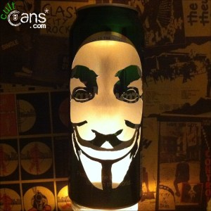 V For Vendetta 'Guy Fawkes Mask' Beer Can Lantern