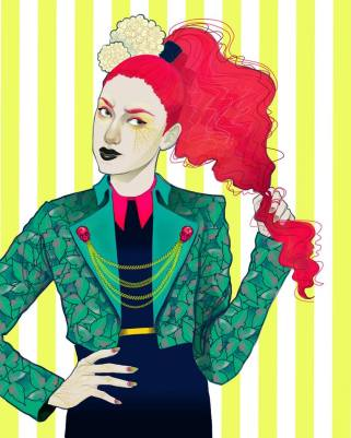 "Poison Ivy: Vogue Gallery by Celeste Pille Digital print Limited edition of 14 8"" x 10"" $20"
