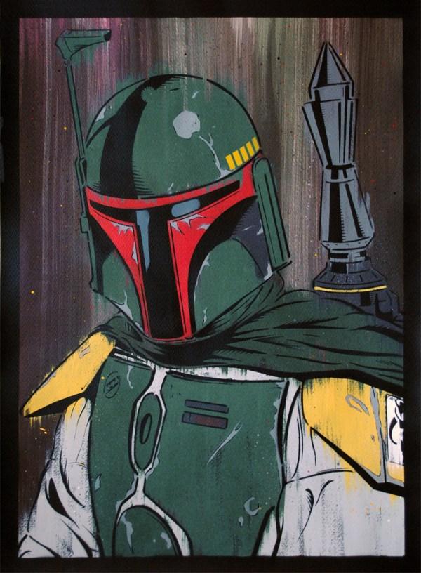 Star Wars Boba Fett Painting
