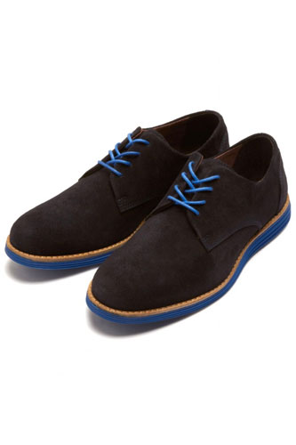 Selected Homme Navy Print Shoes