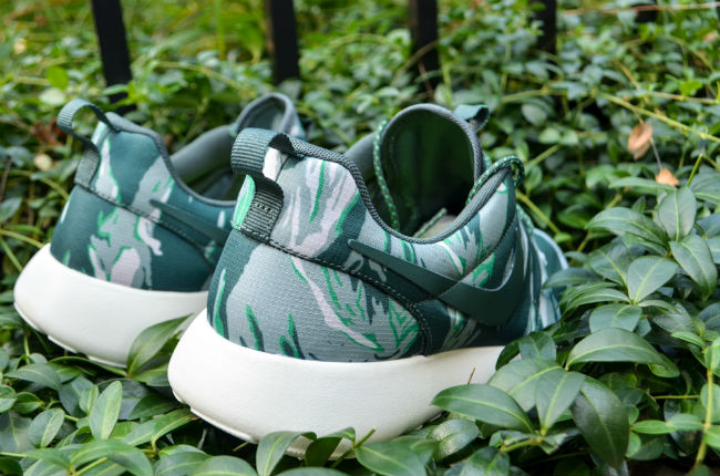 Nike Roshe Run Green Tiger Camo