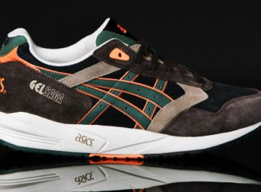 Asics Gel Saga Dark Brown / Black / Dark Green
