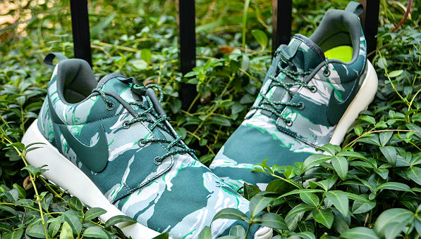 Nike Roshe Run GPX Green Tiger Camo