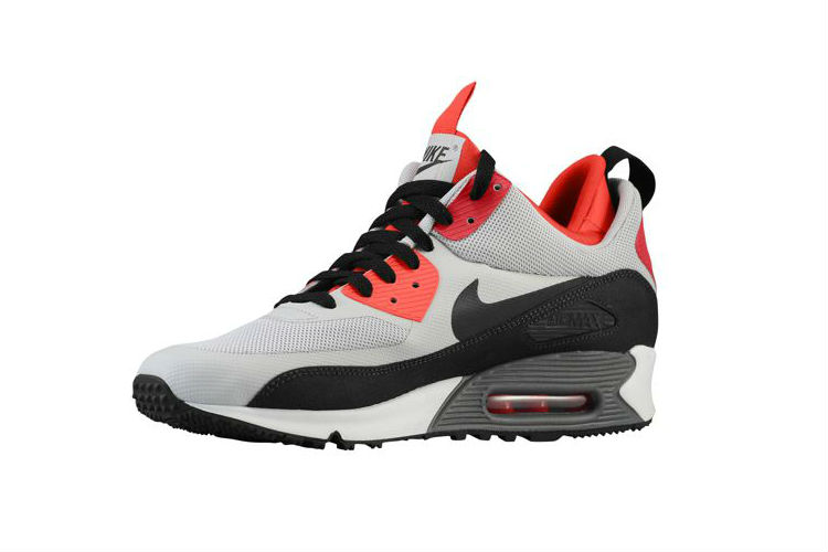 Nike Air Max 90 Sneakerboot Dusty Grey / Challenge Red