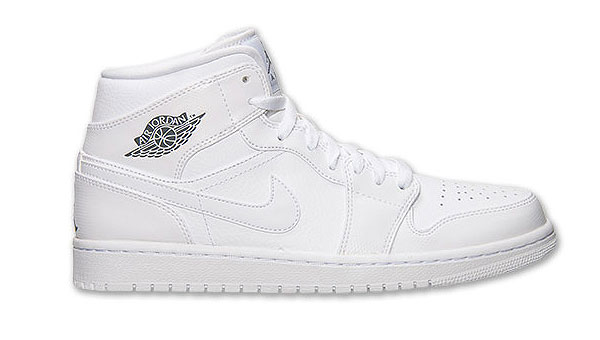 Air Jordan 1 Mid White / Cool Grey-White