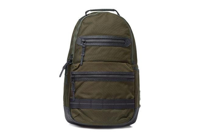 master-piece ballistic double zip backpack khaki
