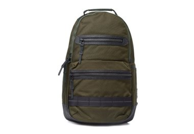 master-piece ballistic double zip backpack khaki