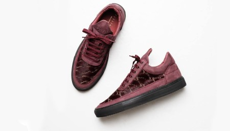 Filling Pieces Low Top Pony Woven Burgundy