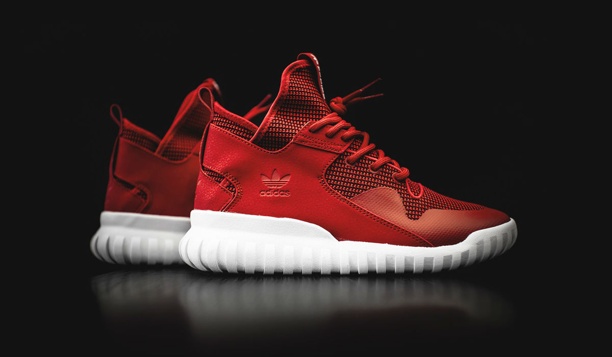 adidas Tubular X Collegiate Red