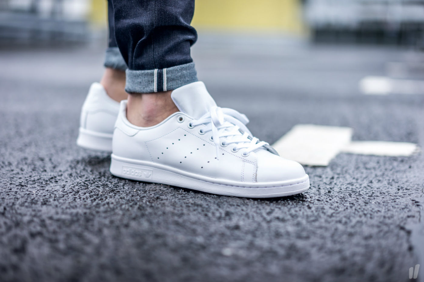 hot sale online 99321 b3dd7 adidas Originals Stan Smith All White